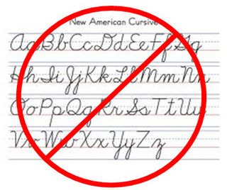 No more cursive