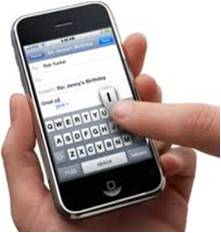 Texting on iPhone