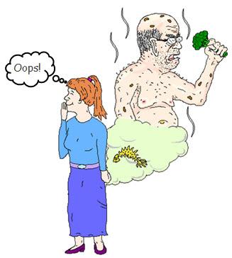 Woman farting