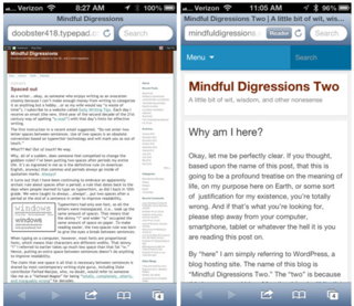 Typepad vs wordpress on iPhone