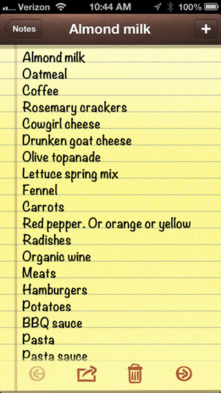 21st century grocery list
